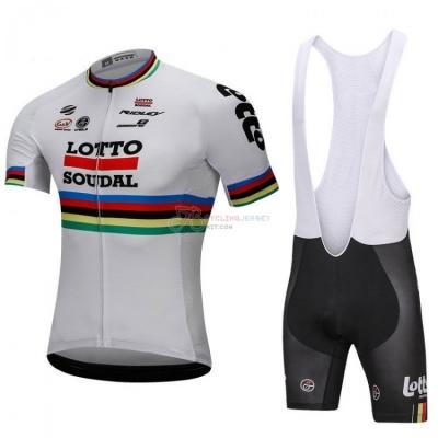 Uci Mondo Campione Lotto Soudal Cycling Jersey Kit Short Sleeve 2018 White 943281520