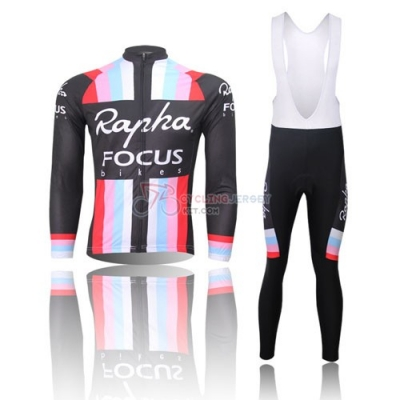 Rapha Cycling Jersey Kit Long Sleeve 2013 Black And Red