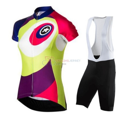 Women Cycling Jersey Kit Assos Short Sleeve 2016 Green And Red