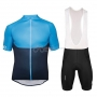 2018 Poc Essential Xc Cycling Jersey Kit Short Sleeve Blue and Black