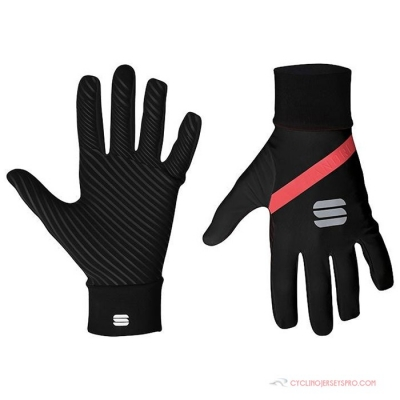 2021 Sportful Long Finger Gloves Red