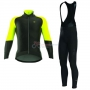 ALE Capo Nord Long Sleeve Cycling Jersey and Bib Pant Kit 2017 black and yellow