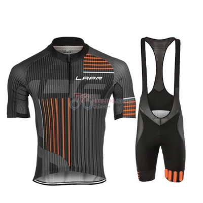 Lungo Ao Cycling Jersey Kit Short Sleeve 2019 Black Orange