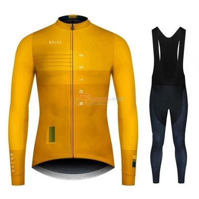 NDLSS Cycling Jersey Kit Long Sleeve 2020 Yellow(1)