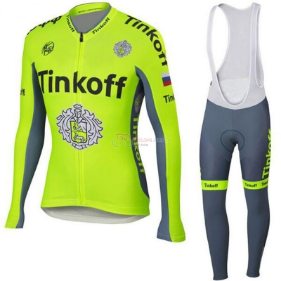 Tinkoff Cycling Jersey Kit Long Sleeve 2018 Yellow