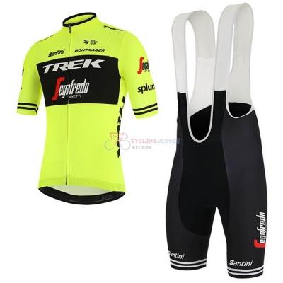 Trek Segafredo Cycling Jersey Kit Short Sleeve 2019 Green Black 35f4f46a4