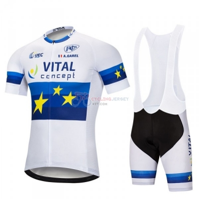 Vital Concept Cycling Jersey Kit Short Sleeve 2018 Blue White