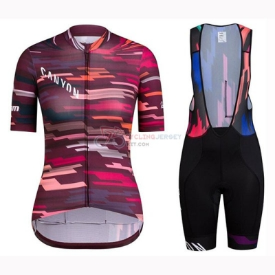 Women Canyon Cycling Jersey Kit Short Sleeve 2019 Red