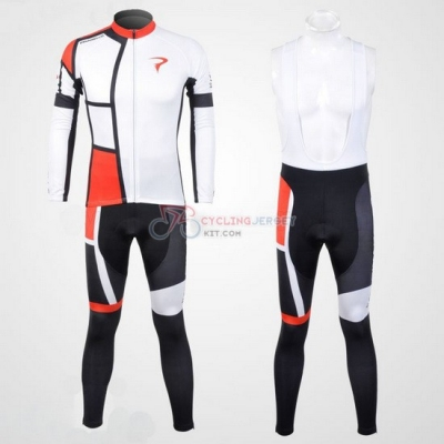 Pinarello Cycling Jersey Kit Long Sleeve 2012 Red And White
