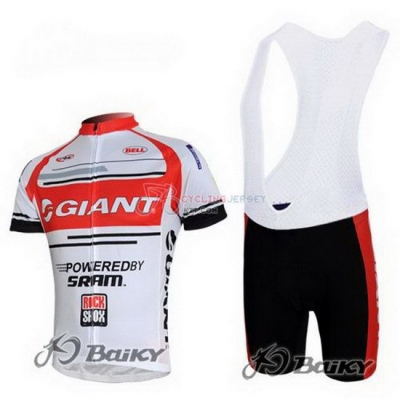 Giant Cycling Jersey Kit Short Sleeve 2011 White And Red