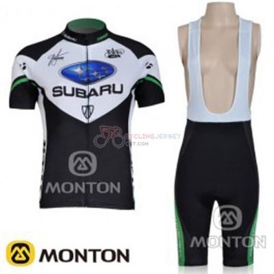 Women Cycling Jersey Kit Subaru Short Sleeve 2011 Black And White 3219f64b7