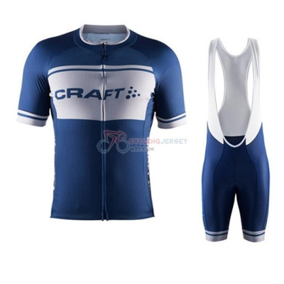 Craft Cycling Jersey Kit Short Sleeve 2016 White And Blue