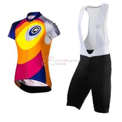 Women Cycling Jersey Kit Assos Short Sleeve 2016 Yellow And Red