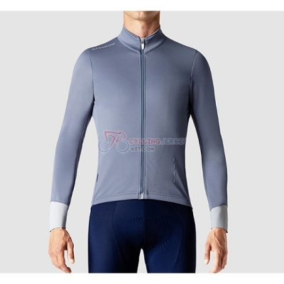 La Passione Cycling Jersey Kit Long Sleeve 2019 Gray White