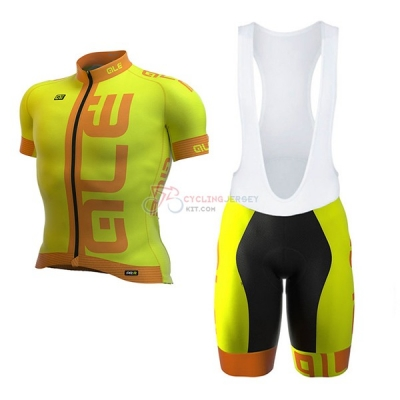 ALE Graphics Prr Arcobaleno Short Sleeve Cycling Jersey and Bib Shorts Kit 2017 yellow
