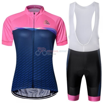 Chomir Cycling Jersey Kit Short Sleeve 2019 Pink Spento Blue
