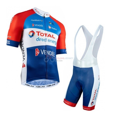 Direct Energie Cycling Jersey Kit Short Sleeve 2020 Red Blue