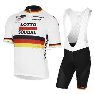 Lotto Cycling Jersey Kit Short Sleeve 2017 Red And White