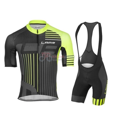 Lungo Ao Black Cycling Jersey Kit Short Sleeve 2019 Green