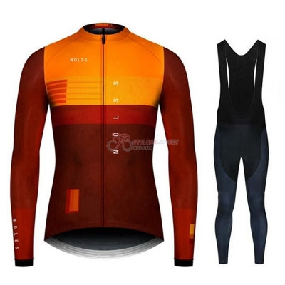 NDLSS Cycling Jersey Kit Long Sleeve 2020 Brown Yellow