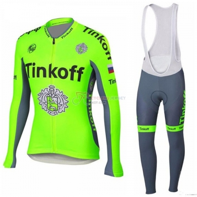 Tinkoff Cycling Jersey Kit Long Sleeve 2018 Green