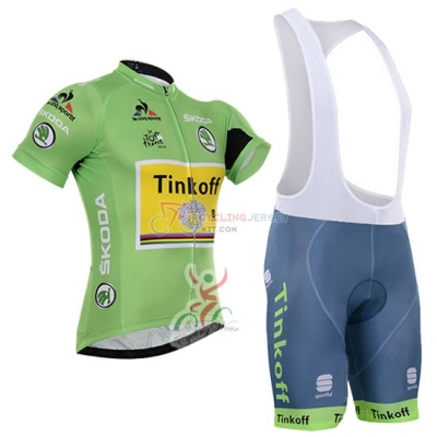 Tinkoff Cycling Jersey Kit Short Sleeve 2016 Green And Black
