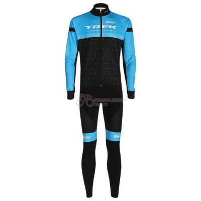 Trek Cycling Jersey Kit Long Sleeve 2020 Black Blue