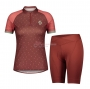 Women Scott Cycling Jersey Kit Short Sleeve 2021 Dark Red