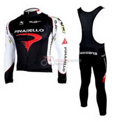 Pinarello Cycling Jersey Kit Long Sleeve 2010 Black And White