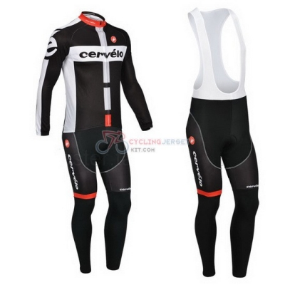 Cervelo Cycling Jersey Kit Long Sleeve 2013 White And Black