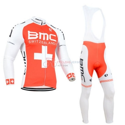 BMC Cycling Jersey Kit Long Sleeve 2014 Orange And White