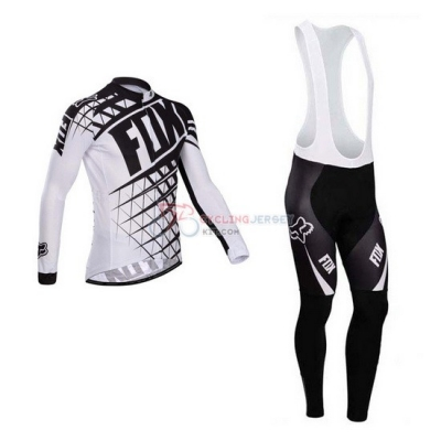 Fox Cycling Jersey Kit Long Sleeve 2014 White And Black