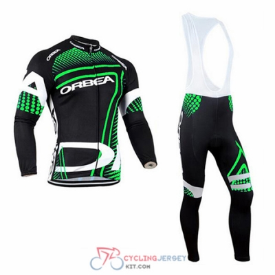 2017 Orbea Cycling Jersey Kit Long Sleeve black and green