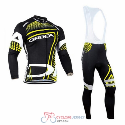 2017 Orbea Cycling Jersey Kit Long Sleeve yellow and black
