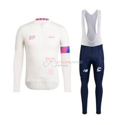 EF Education First-Drapac Cycling Jersey Kit Long Sleeve 2020 White