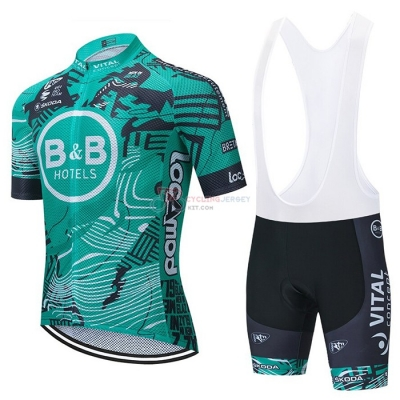 Concept-bb Hotels Cycling Jersey Kit Short Sleeve 2021 Green