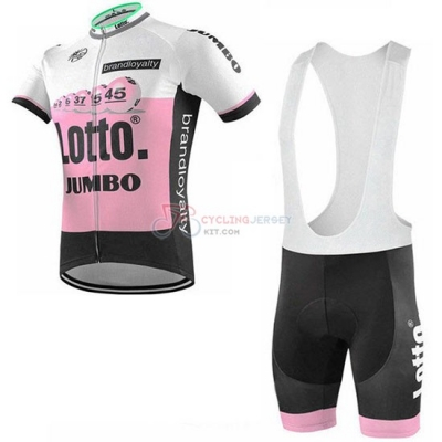 Lotto NL-Jumbo Cycling Jersey Kit Short Sleeve 2019 Pink White