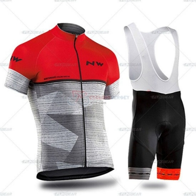 Northwave Cycling Jersey Kit Short Sleeve 2019 Gray Red