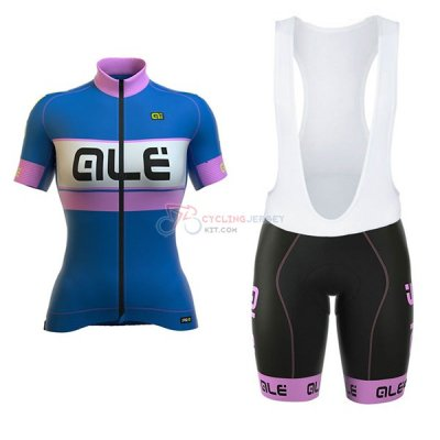 Women ALE Graphics Prr Bermuda Short Sleeve Cycling Jersey and Bib Shorts Kit 2017 blue