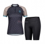 Women Scott Cycling Jersey Kit Short Sleeve 2021 Gray Brown