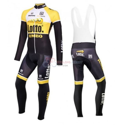 Lotto Cycling Jersey Kit Long Sleeve 2016 Yellow And Black