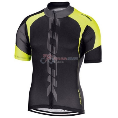 Look Cycling Jersey Kit Short Sleeve 2016 Black And Yellow