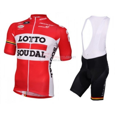 Lotto Cycling Jersey Kit Short Sleeve 2016 White And Red