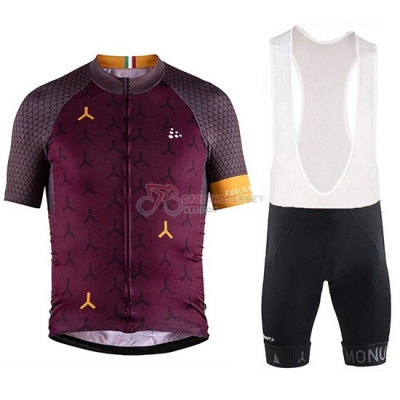 2018 Craft Monument Cycling Jersey Kit Short Sleeve Spento Red