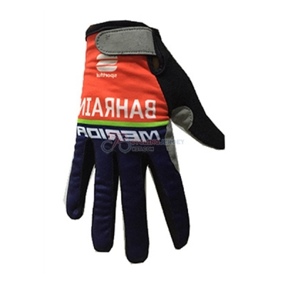 Bahrain Merida Long Finger Gloves 2017
