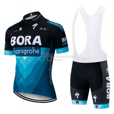 Bora Cycling Jersey Kit Short Sleeve 2019 Black Blue