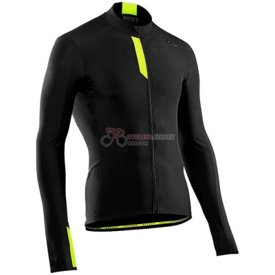 Northwave Cycling Jersey Kit Long Sleeve Black Yellow
