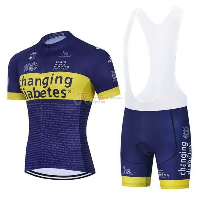 Novo Nordisk Cycling Jersey Kit Short Sleeve 2021 Blue Yellow