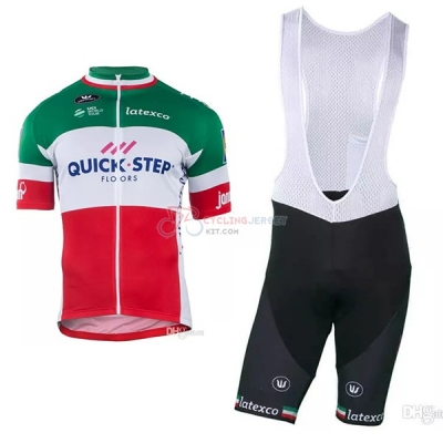 Quick Step Floors Campione Italy Cycling Jersey Kit Short Sleeve 2018