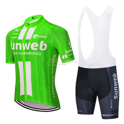 Sunweb Cycling Jersey Kit Short Sleeve 2020 Green White